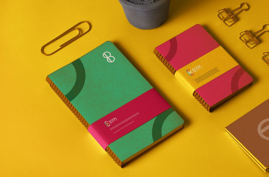 Spiral-Ring-Kraft-Notebooks-Stationery-Mockup